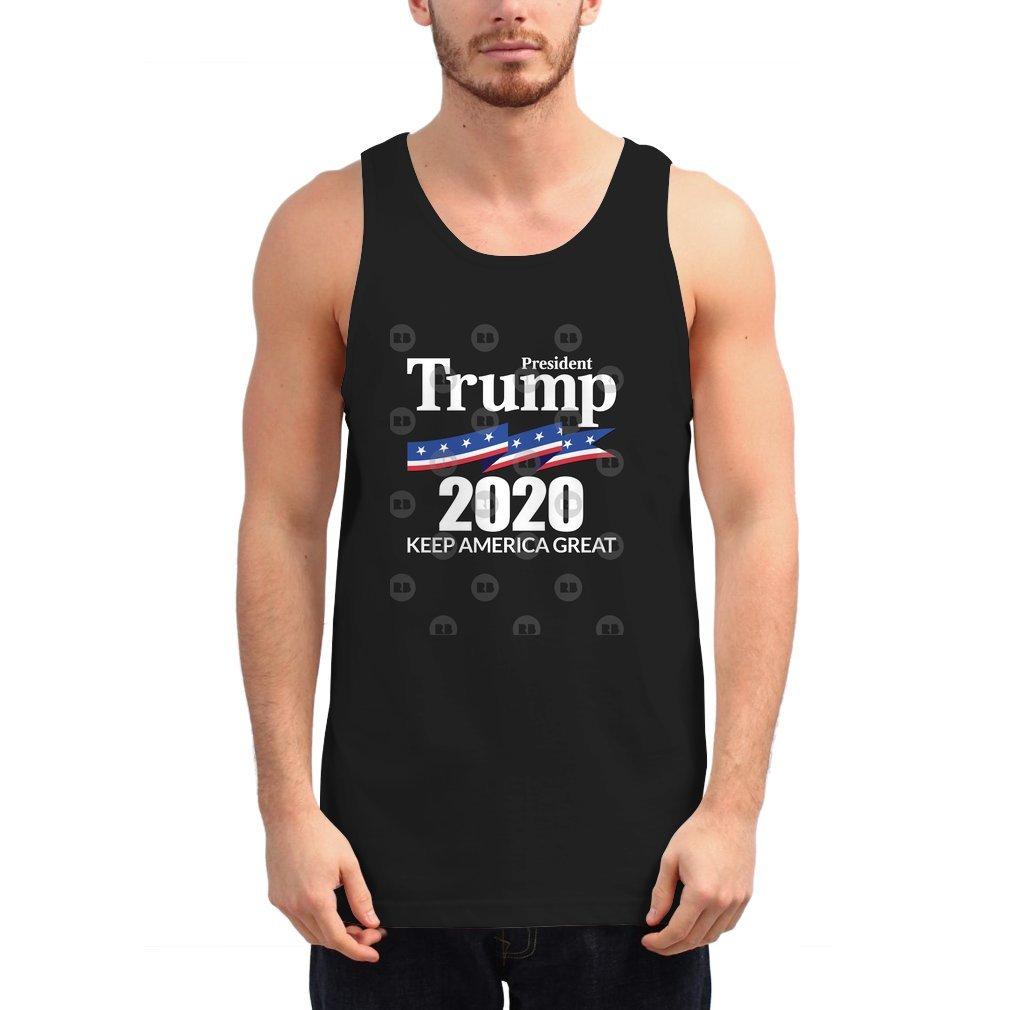 Thumb President Trump 2020 - Keep America Great Unisex Tank Top