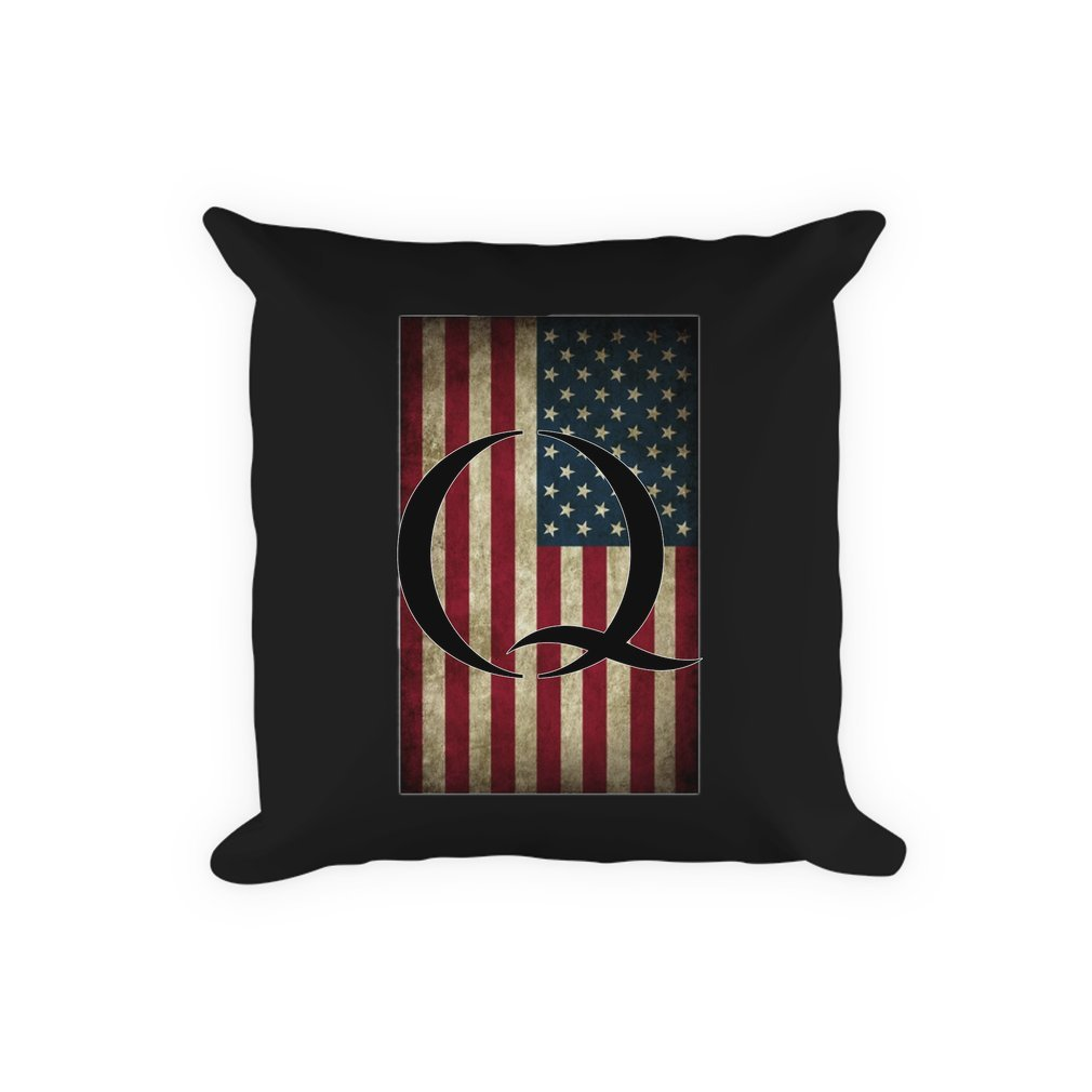 Thumb Q QANON AMERICA USA - WHERE WE GO ONE Pillow