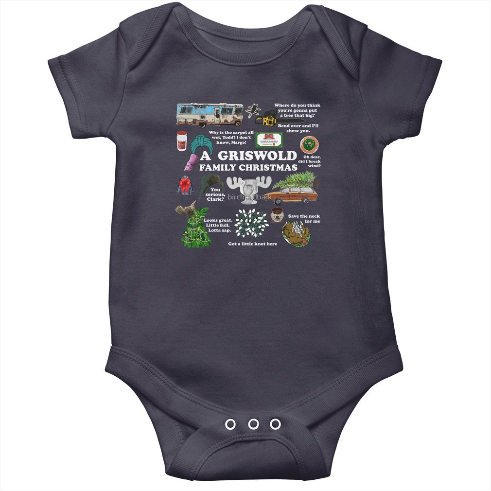 Thumb Christmas Vacation Collage Baby Onesie