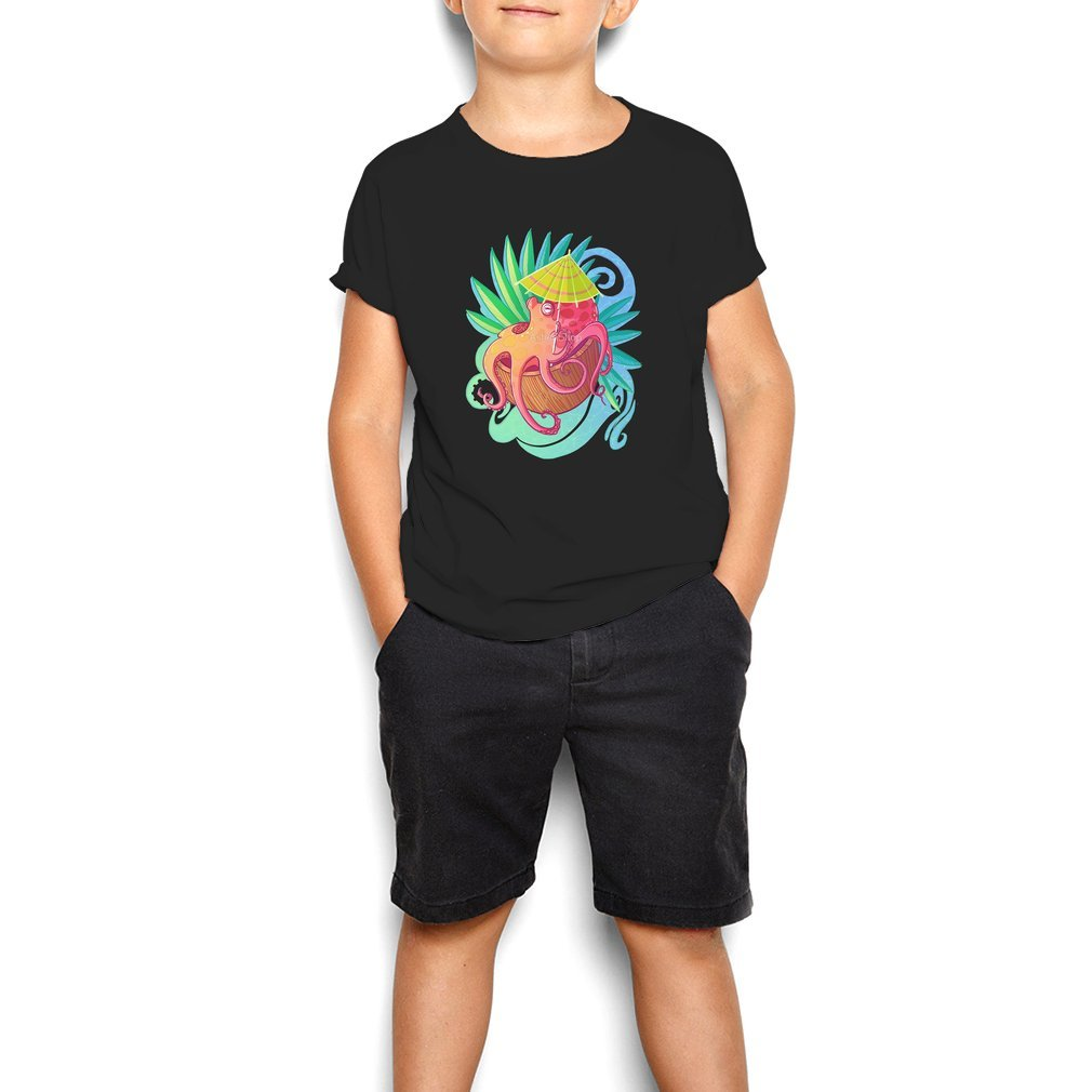 Thumb Octopus on the Beach Youth Tee
