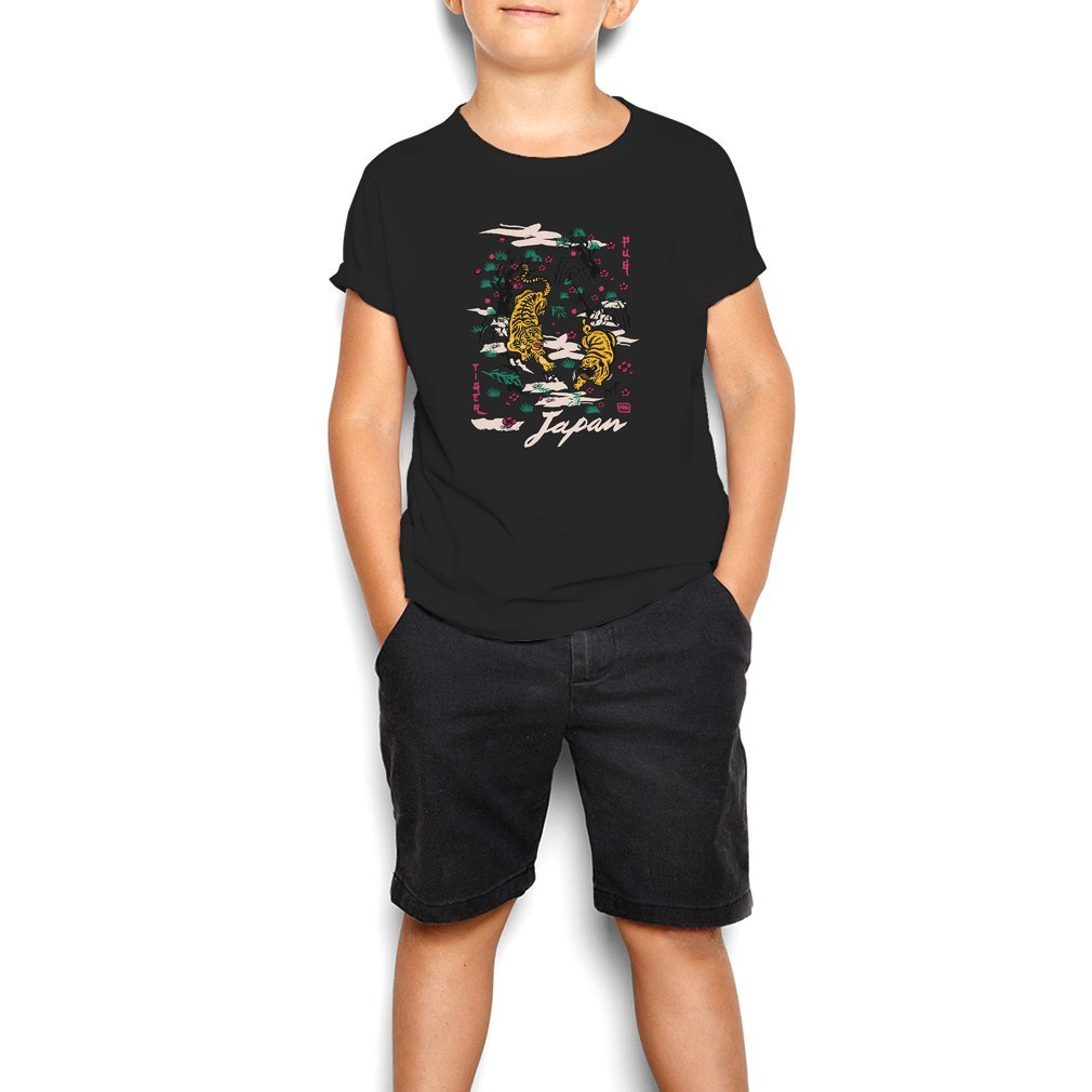 Thumb Tiger and Pug Japanese style Youth Tee